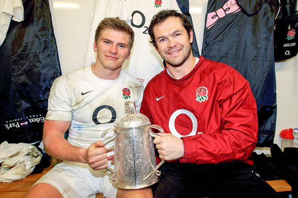 Andy Farrell and Owen Farrell Murrayfield 2012