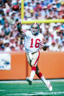 Joe Montana San Francisco 49ers v Rams 1983