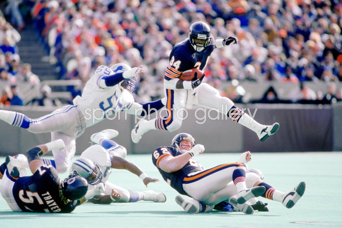 Walter Payton Chicago Bears v Lions 1987