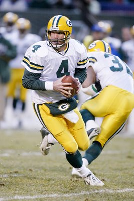Brett Favre Green Bay Packers v New York Jets 2002