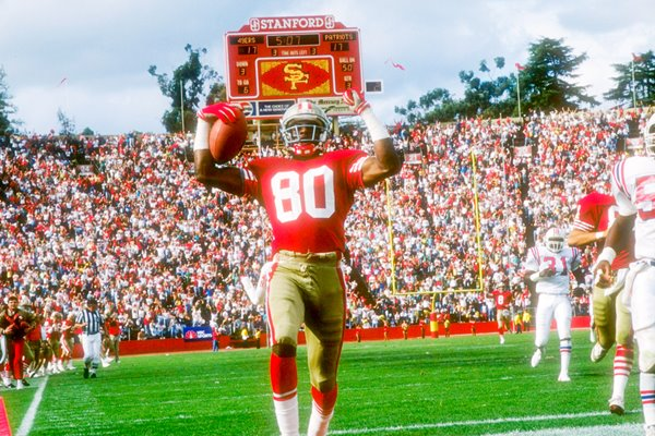 Jerry Rice San Francisco 49ers v Patriots 1989