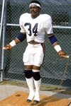 Walter Payton Chicago Bears 1987 Canvas