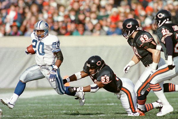 Barry Sanders Detroit Lions v Chicago Bears 1996