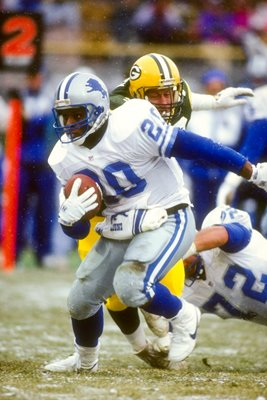 Barry Sanders Detroit Lions v Packers 1992