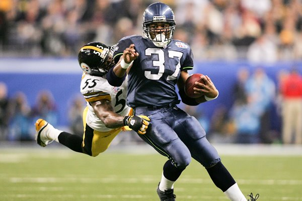 Shaun Alexander Seattle Seahawks Super Bowl XL 2006