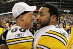Jerome Bettis & game MVP Hines Ward Super Bowl 2006 Prints
