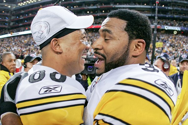 Jerome Bettis & game MVP Hines Ward Super Bowl 2006