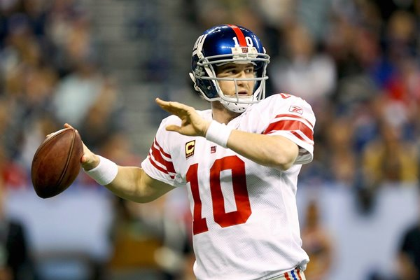 Eli Manning New York Giants Super Bowl 2012