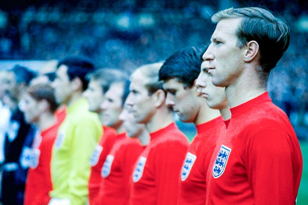 JACK CHARLTON AND ENGLAND LINE UP FOR ANTHEMS