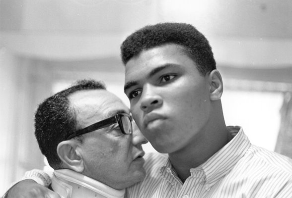 Cassius Clay and Manager Chris Dundee 1964
