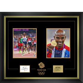 2012 LONDON OLYMPIC GAMES MO FARAH SIGNED LTD EDITION - 1 LEFT £395