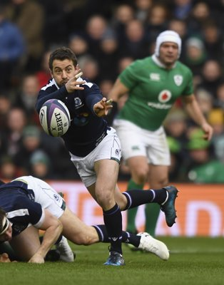 Greig Laidlaw Scotland v Ireland 6 Nations 2017