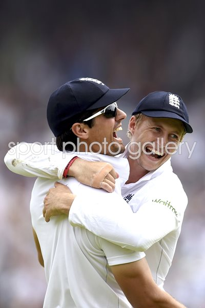 Alastair Cook & Joe Root England v India 2014