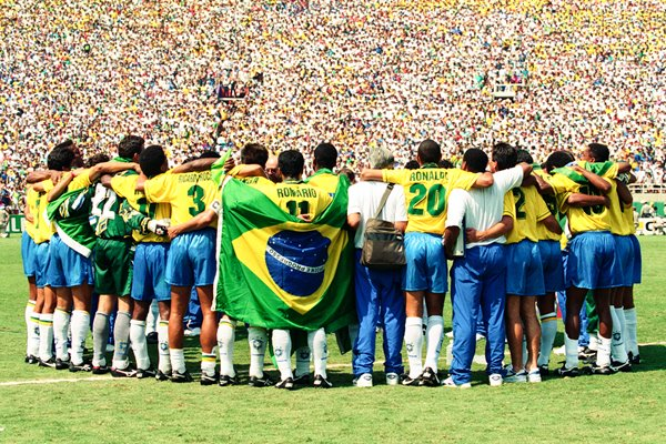 Brazil Team before the shootout vs Italy 1994