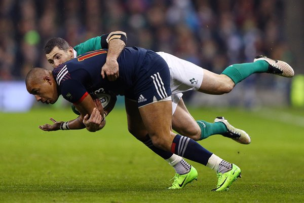 Gael Fickou & Rob Kearney Ireland v France 6 Nations 2017