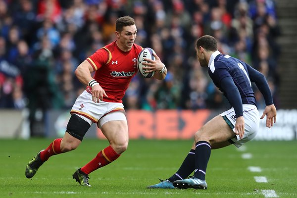 George North Wales v Tim Visser Scotland 6 Nations 2017