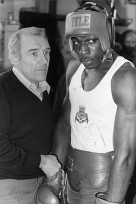 Frank Bruno & trainer Terry Lawless 1982