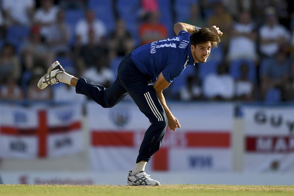 Steven Finn England v West Indies ODI Antigua 2017