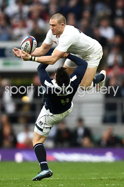 Mike Brown England v Ali Price Scotland 6 Nations 2017