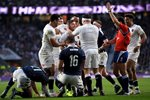 Danny Care scores England v Scotland 6 Nations 2017 Prints