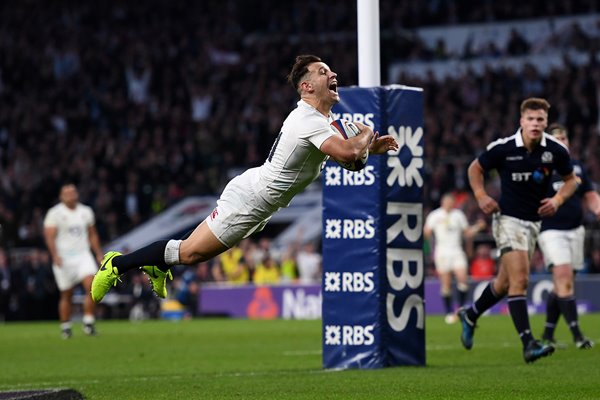 Danny Care scores England v Scotland 6 Nations 2017