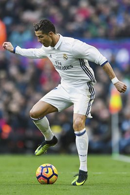 Cristiano Ronaldo Real Madrid controls the ball