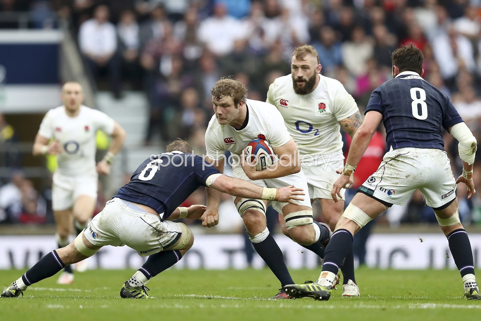 Joe Launchbury England v Scotland 6 Nations 2017
