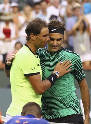 Roger Federer beats Rafael Nadal Indian Wells 2017