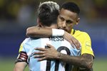 Neymar Brazil v Messi Argentina 2018 World Cup Qualifier Prints