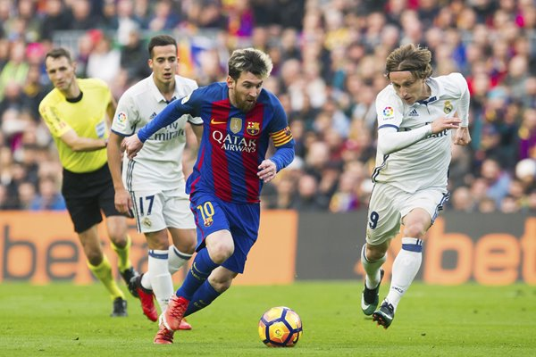 Lionel Messi Barcelona v Real Madrid La Liga 2017
