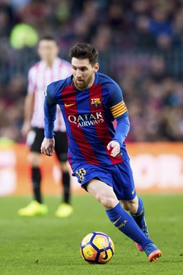 Lionel Messi Barcelona v Athletic Club La Liga 2017