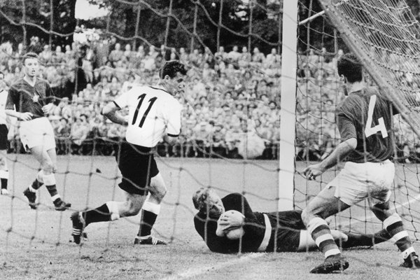 Hans Schaefer Germany v Czechoslovakia World Cup 1958