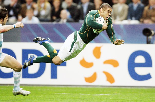 Bryan Habana South Africa scores RWC Semi Final 2007