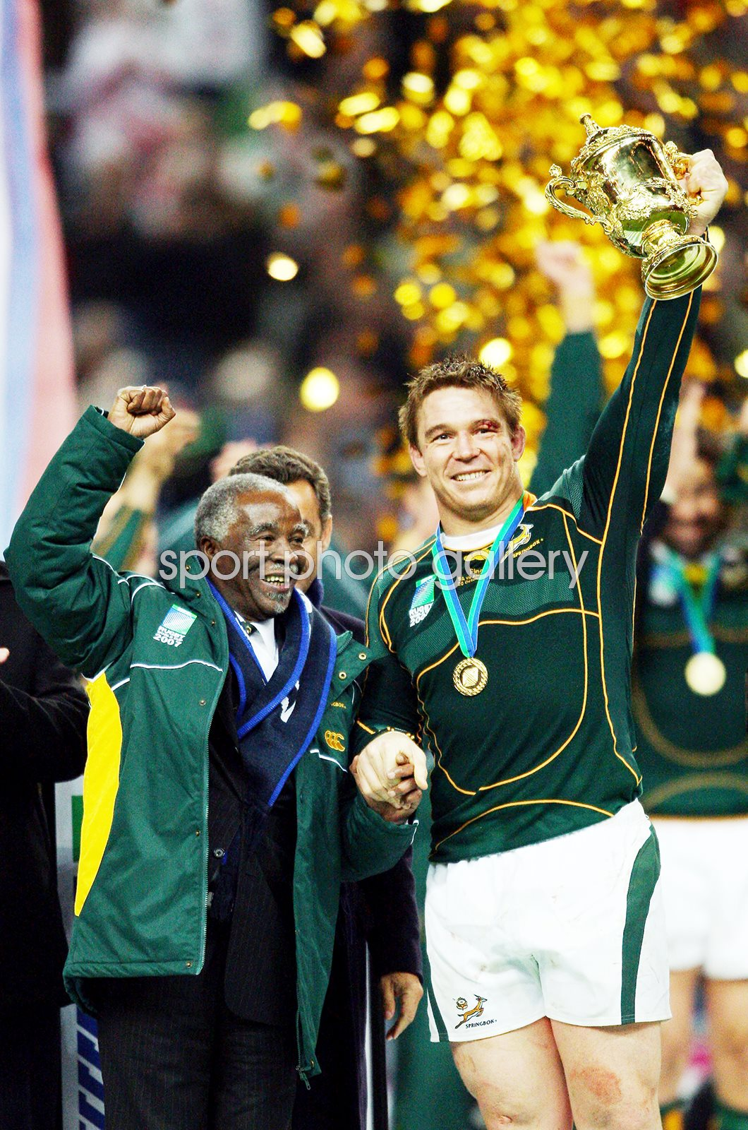 John Smit South Africa & Thabo Mbeki World Cup 2007