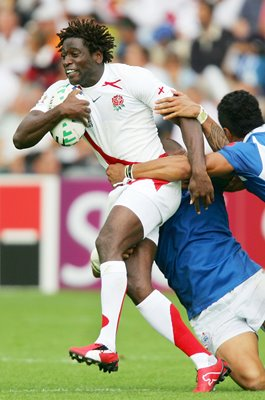 Paul Sackey England v Samoa Rugby World Cup 2007