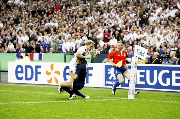 Josh Lewsey England scores World Cup Semi Final 2007