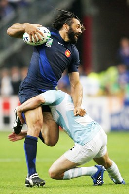 Sebastien Chabal France v Argentina World Cup 2007