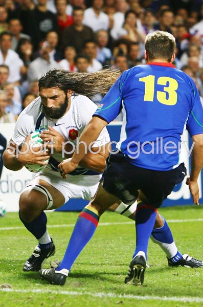 Sebastien Chabal France v Namibia Rugby World Cup 2007