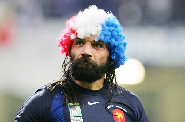 Sebastien Chabal France beat New Zealand RWC 2007 Quarter Final
