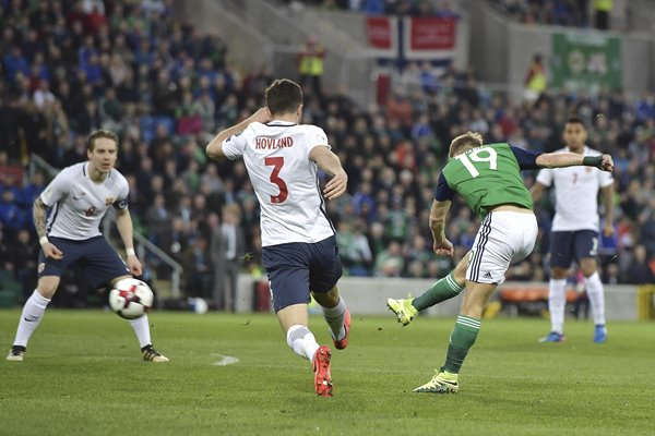 Jamie Ward Northern Ireland scores v Norway