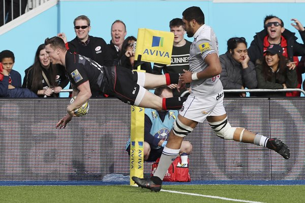 Chris Ashton Saracens scores v Bath Premiership 2017