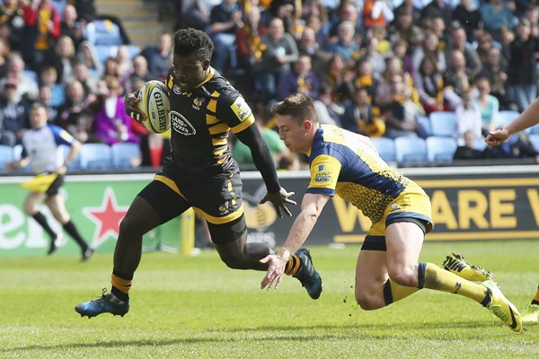 Christian Wade Wasps v Worcester Warriors Premiership 2017