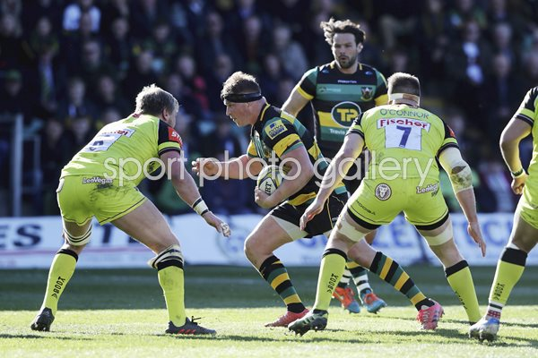 Dylan Hartley Northampton Saints v Leicester Premiership 2017