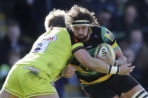 Tom Wood Northampton Saints v Leicester Tigers Premiership 2017