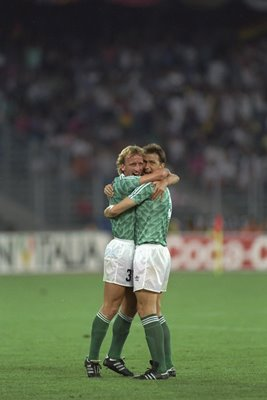 Andreas Brehme & Klaus Augenthaler West Germany World Cup 1990