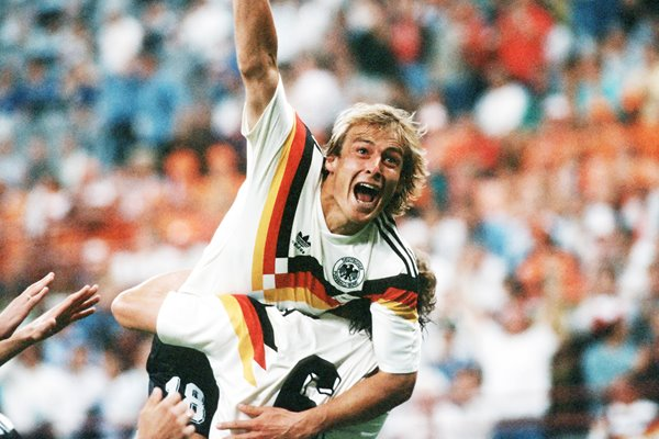 Juergen Klinsmann Germany v Netherlands World Cup 1990