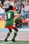 Roger Milla Cameroon v Colombia World Cup 1990 Prints