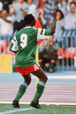 Roger Milla Cameroon v Colombia World Cup 1990