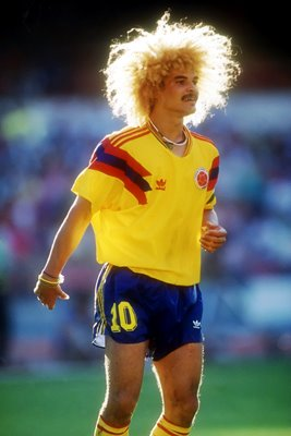 Carlos Valderrama Columbia World Cup 1990