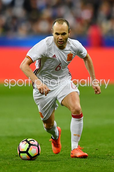 Andres Iniesta Spain v France Paris 2017